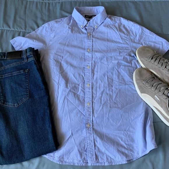 Michael Kors Other - Michael Kors Regular Fit Blue Striped Short Sleeve